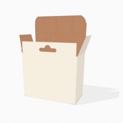 Verpackung mit Hänger